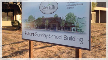 The new building construction project of Coast Hills Baptist Church of Santa Maria